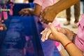 Handwashing, Teachers that schools are teaching children to wash Royalty Free Stock Photo