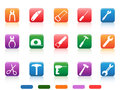 Handwork tools icons button isolated from white background Royalty Free Stock Image