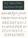 Handwriting alphabet with uppercase and lowercase letters Stock Photo
