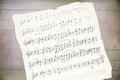 Handwriting music sheet Royalty Free Stock Photo