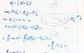 Handwriting test paper in theoretical Mechanics subject Royalty Free Stock Photo