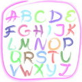 Handwritten alphabet Stock Photography