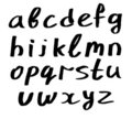 Handwritten alphabet - small Stock Image
