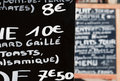 Handwritten French menu Royalty Free Stock Photos