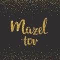 Handwritten Glitter Gold lettering.