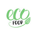 Handwritten inscription eco food for healthy life production org