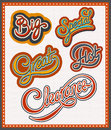 Handwritten lettering set big special hot great clearance Stock Photo