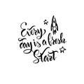 Handwritten motivating quote.