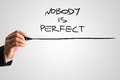 Handwritten Nobody is Perfect with Underline Royalty Free Stock Photo