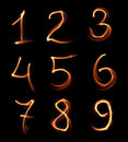 Handwritten numbers Royalty Free Stock Images