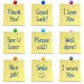 Handwritten Post It Notes Set Royalty Free Stock Images
