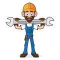 Handyman Holding Wrench