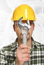 Handyman portrait Royalty Free Stock Photo