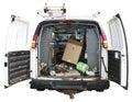Handyman Utility Truck Van Isolated on White Stock Images