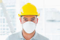 Handyman wearing protective workwear at site portrait of confident Stock Photography