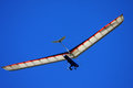 Hang glider in a blue sky Stock Image