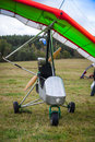Hang glider staying on a ground Stock Photo