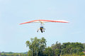 Hang Gliders Flying Above Airstrip Royalty Free Stock Photo