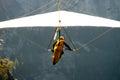 Hang-gliding over a valley Stock Photos
