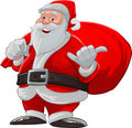 Hang loose santa claus Royalty Free Stock Photos