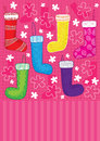 Hang Stocking Card_eps Royalty Free Stock Images
