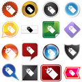 Hang Tag Variety Icon Set Royalty Free Stock Images