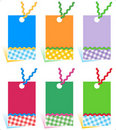 Hang tags design elements Stock Images