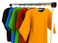 Hanger with clothes any color Stock Image