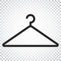 Hanger vector icon. Wardrobe hander flat illustration. Simple bu