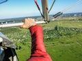 Hangglider piloting Royalty Free Stock Photo