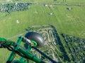 Hangglider piloting extreme sports hobbies landscape aero Royalty Free Stock Photo