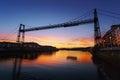 Hanging bridge of Vizcaya Royalty Free Stock Photo