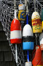 Hanging Buoys in Rockport, Massachusetts Royalty Free Stock Photo