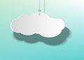 Hanging cloud rope in against bright sky Royalty Free Stock Photography