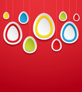Hanging easter eggs vector illustration Stock Images
