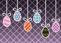 Hanging easter eggs vector illustration Royalty Free Stock Photography