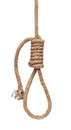 Hanging gallows rope Royalty Free Stock Photo
