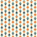 Hanging garland background. Crystal pendant motif. Ethnic and tribal seamless pattern with lozenges and diamonds.