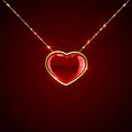 Hanging heart red on seamless background illustration Stock Images