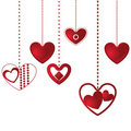 Hanging hearts background