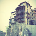 Hanging houses in Cuenca Royalty Free Stock Photo