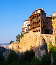 Hanging Houses on rocks in Cuenca Royalty Free Stock Photo