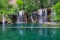 Hanging Lake Waterfall in Colorado Royalty Free Stock Photo