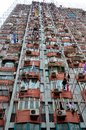 Hanging laundry on Shanghai high rise building China Royalty Free Stock Photo