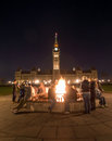 Hanging out at the Centennial Flame in Ottawa, Ontario, Canada Royalty Free Stock Photo