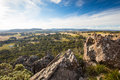 Hanging Rock in Macedon Ranges Royalty Free Stock Photo
