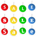 Hanging sale tags Stock Image