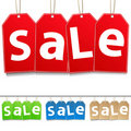 Hanging Sale Tags Stock Photography