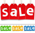 Hanging Sale Tags Royalty Free Stock Images