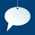 Hanging speech bubble with striped background design blue Royalty Free Stock Photos